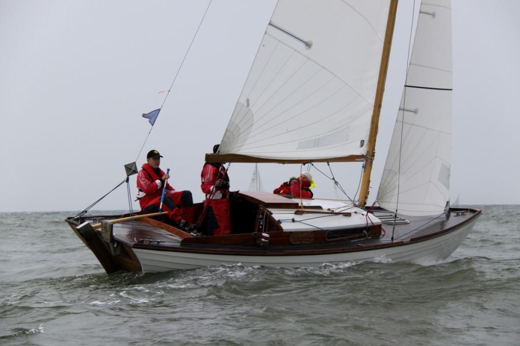 Folkboot Tuuli ESTF18, kapten Olev Oolup. Foto: Piret Salmistu
