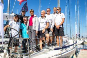 Suurimate jahtide grupis ORC I purjetas 2014.a avamerepurjetamise maailmameisterjaht Forte pardal kaasa ka president Kersti Kaljulaid - foto Berit Hainoja / Kalevi Jahtklubi