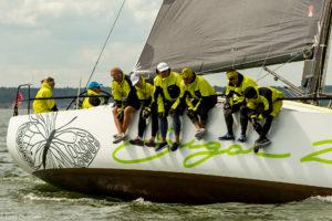 ORC I grupi Hiiu Valla Kärdla ringi võitja Pärnu Jahtklubi jaht Sugar 2 Marjaliisa Umbiga roolis. Foto Piret Salmistu