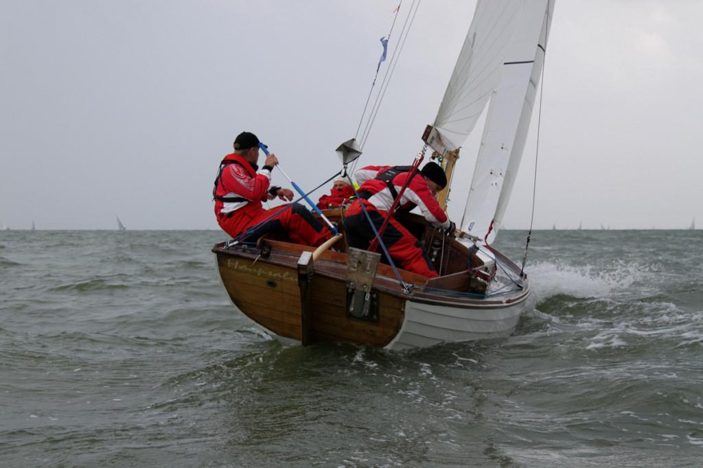 Folkboot Tuuli, kapten Olev Oolup, Haapsalu Jahtklubi.  Foto: Piret Salmistu