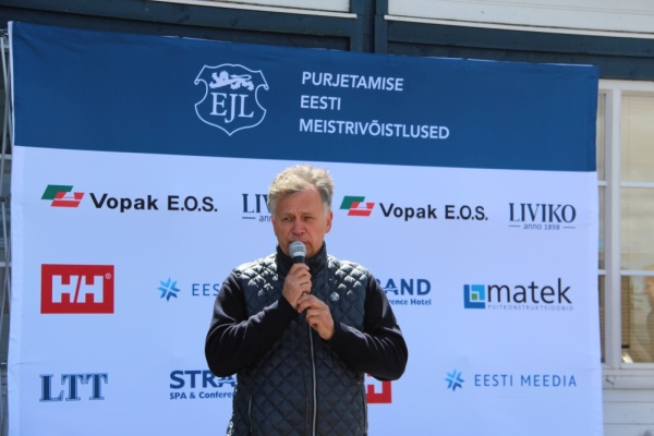Eesti Jahtklubide Liidu president Egon Elstein. Foto autor: Riina Ramst
