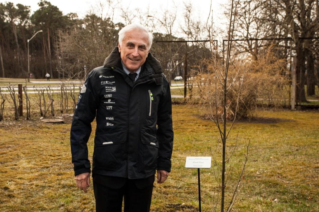 ISAF-i presidendi külaskäiku Kalev Jahtklubisse jääb meenutama tema istutatud tamm. Foto autor: Mardo Männimägi