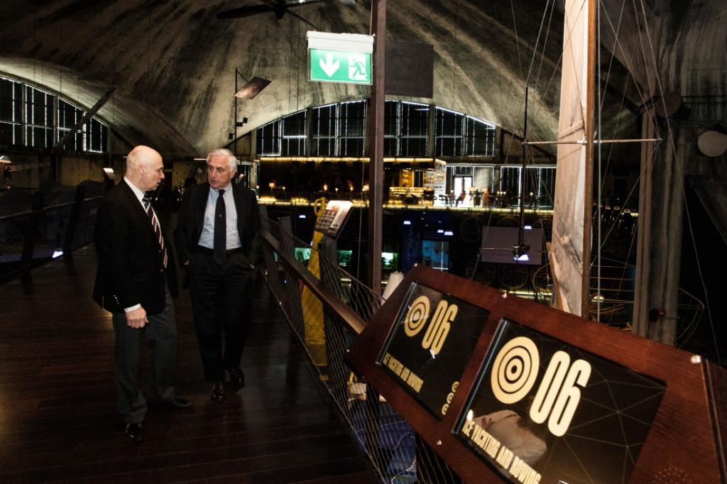 ISAF-i president Carlo Croce ja Kalev Jahtklubi kommodoor Kalev Vapper Lennusadamas. Foto autor: Mardo Männimägi