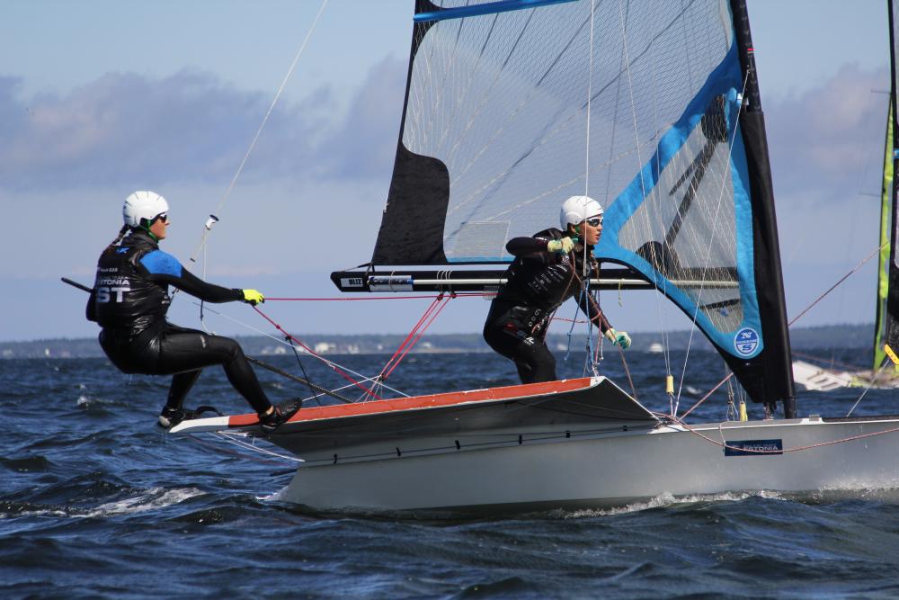 Kätlin Tammiste ja Anna Maria Sepp 49erFX klass. Foto autor: Riina Ramst