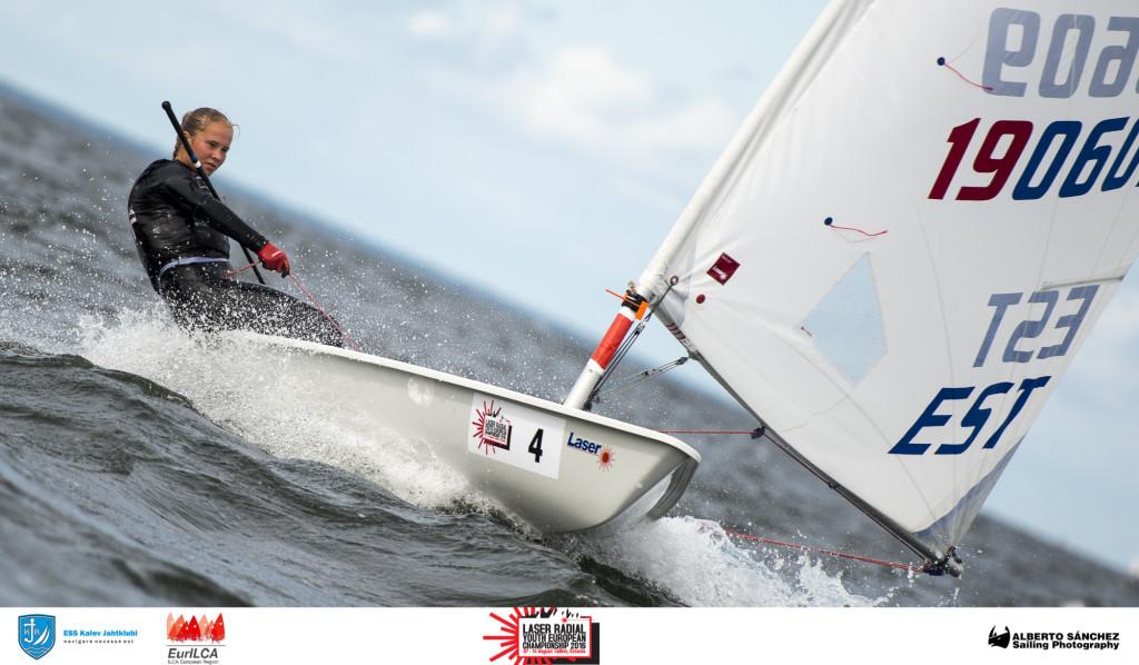 Maris Seersant EST190609, Tallinna Jahtklubi - Laser Radial Noorte Euroopa Meistrivõistlused 2016 - 10.08.2016 - foto Alberto Sanchez