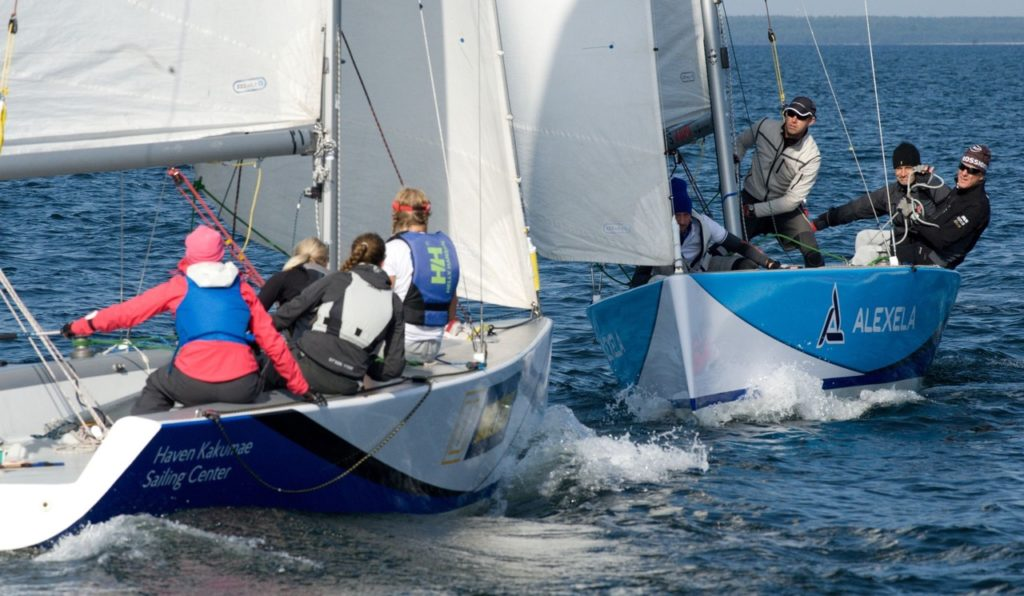 Match race võistlus BlueSail24 paatidel Foto: Haven Kakumäe Sailing Center