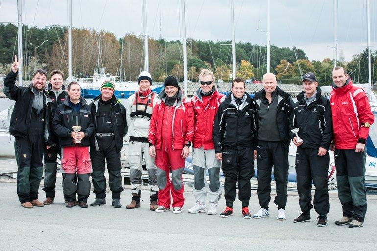 Match Race Eesti meistrivõistluste top 3. Foto autor: Keiti Väliste, Eesti Match Race Liit