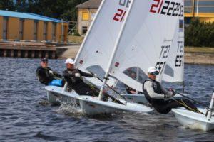 Laser Standard klassi finaalsõidu start 2018. aasta Pärnu Purjetamisnädalal. Foto autor: Riina Ramst