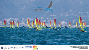 RS:X klassi mehed täiskasvanute ja juunioride lahtistel Euroopa meistrivõistlustel, Mallorca 2019  FOTO: Sailing Energy