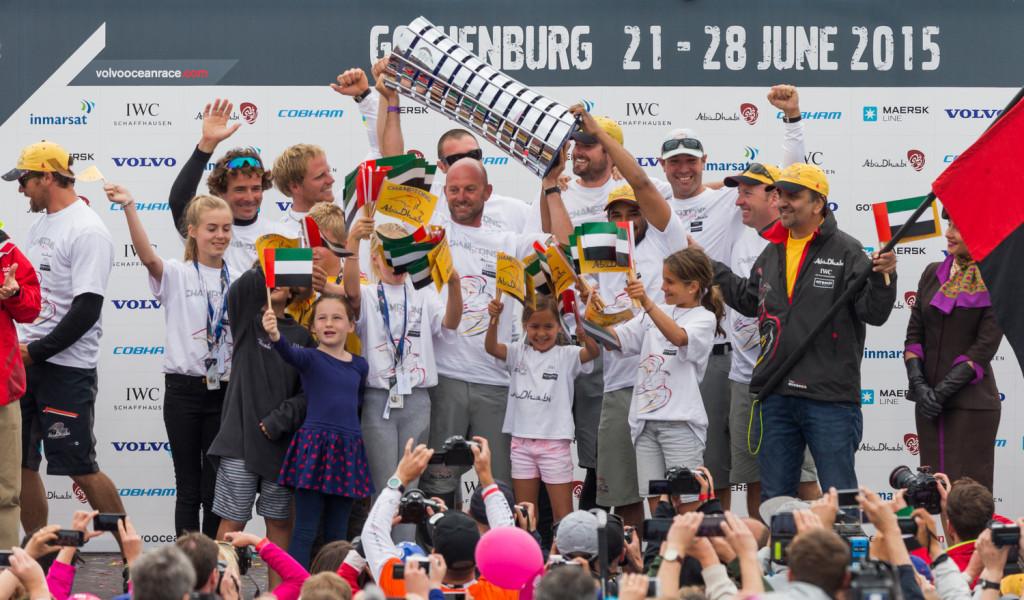 Üldvõitja Abu Dhabi meeskond eesotsas kapten Ian Walkeriga oli parim ka lühiraja arvestuses. Credit: Carlo Borlenghi / Volvo Ocean Race