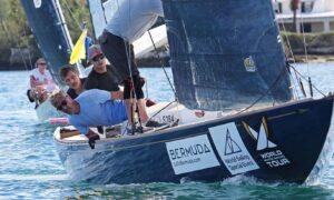 Mati Sepa meeskond Clean Energy Sailing Team Ago Rebane, Karl-Hannes Tagu ja Aleksei Zigadlo - 70. Bermuda Gold Cup regatt ja 2020.a. Match Race avatud maailmameistrivõitlused Bermudal FOTO: Charles Anderson / RBYC