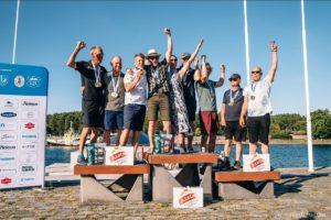 A. Le Coq 63. Muhu Väina regatt 2020 Folkbootide grupi ning Folkbootide Eesti meistrivõistluste esikolmik.  Foto: Janis Spurdzins janisspurdzins.com