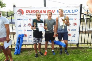 Formula Sankt-Peterburg Euro Cup noorte poodium.  Foto autor: Association Formula Windsurfing Russia