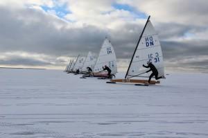 DN jääpurjekad stardis. Foto autor: Ott Kallas