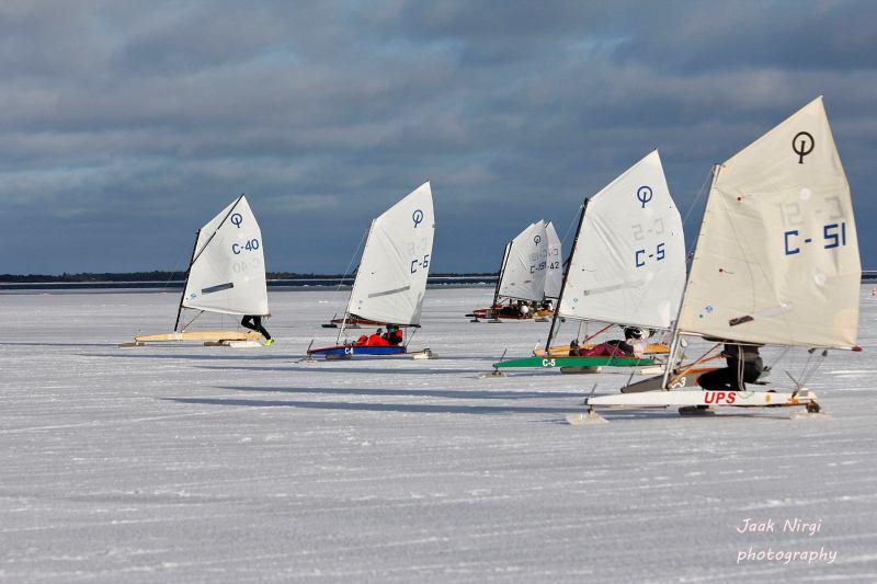 Ice-Optimist klassi start Foto autor: Jaak Nirgi