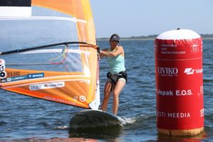 Ingrid Puusta, liider RS:X klassis. Foto autor: Riina Ramst