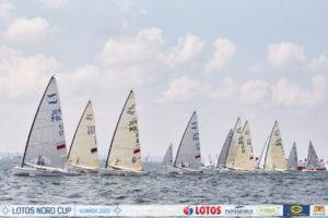 Lotos Nord Cup Gdansk  regati Finn klassi neljanda sõidu start