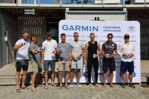 Tallinn Race laupäeva auhinnad 49er parimatele. Foto: Tiit Aunaste