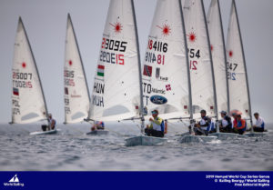 Genoa, Italy is hosting sailors for the third regatta of the 2019 Hempel World Cup Series from 15-21 April 2019. More than 700 competitors from 60 nations are racing across eight Olympic Events. ©PEDRO MARTINEZ/SAILING ENERGY/WORLD SAILING 21 April, 2019.